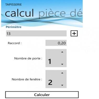 calculer le nombre de rouleaux papier peint avec application windows phone 7. Black Bedroom Furniture Sets. Home Design Ideas