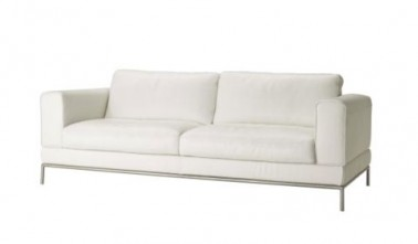 Canap cuir blanc 2 places arild ikea for Canape cuir blanc 2 places
