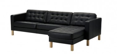 Canap cuir noir karlsfors 3 places ikea - Ikea canape cuir 3 places ...