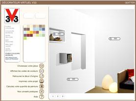 Choisir couleur peinture salon avec simulateur 7 nuanciers v33 for Quel marque de peinture choisir