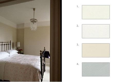 Comment choisir une peinture blanche et sa nuance - Peinture gris perle chambre ...
