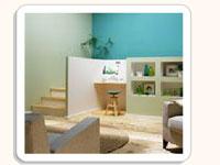 Couleur peinture chambre salon cuisine salle de bain - Simulation peinture salon gratuit ...