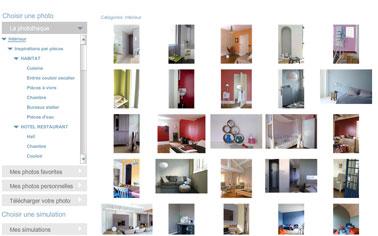 simulateur couleur peintureTollens. Choisir les couleurs de peinture intérieure pour la maison