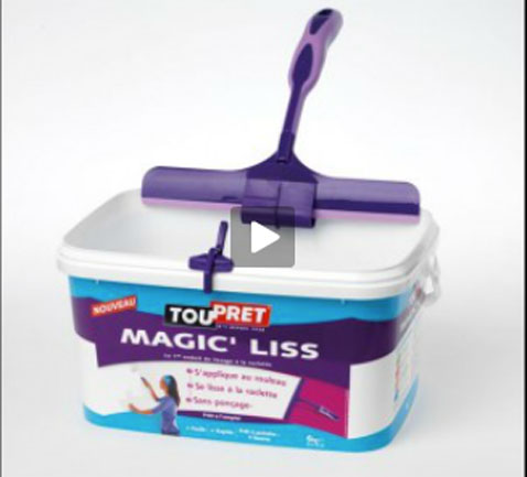 L 39 enduit de lissage au rouleau magic 39 liss de toupret for Video enduit de lissage