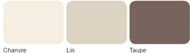 Nuancier pour associer peinture couleur taupe et lin