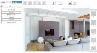 Tester vos couleurs de peinture de salon avec le décorateur virtuel Tollens