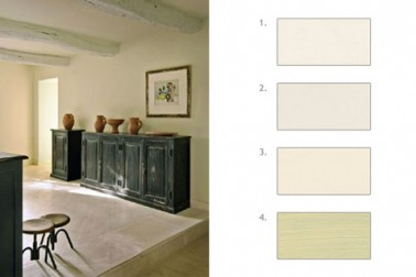 Palette de peinture blanc cass dans salon - Mur blanc casse ...