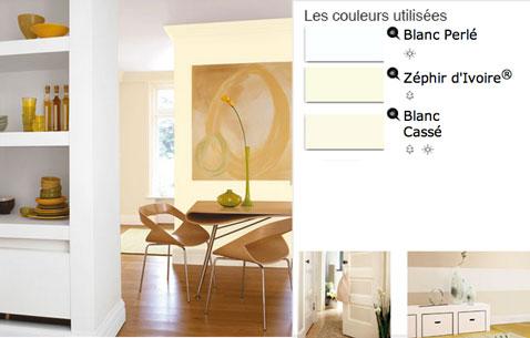 Peinture salle manger couleurs en d grad de blancs - Couleur de peinture pour salle a manger ...