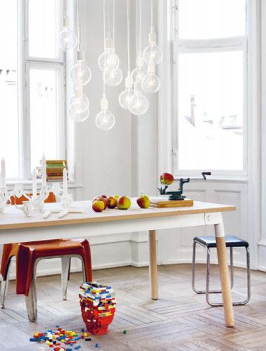 lampe e27 muuto au dessus table cuisine. Black Bedroom Furniture Sets. Home Design Ideas
