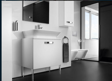 d coration salle de bain meuble et lavabo blanc aubade. Black Bedroom Furniture Sets. Home Design Ideas