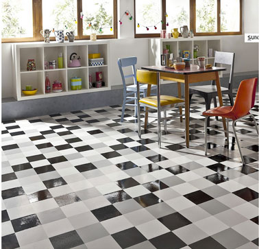 Carrelage vinyl cuisine for Revetement carrelage cuisine