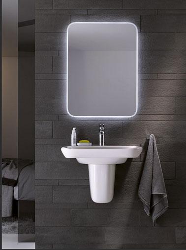 salle de bains ouverte sur chambre couleur gris. Black Bedroom Furniture Sets. Home Design Ideas