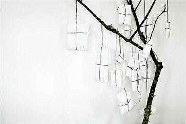 Arbre cadeaux sapin de no l faire avec une branche - Bougeoir de noel a faire soi meme ...