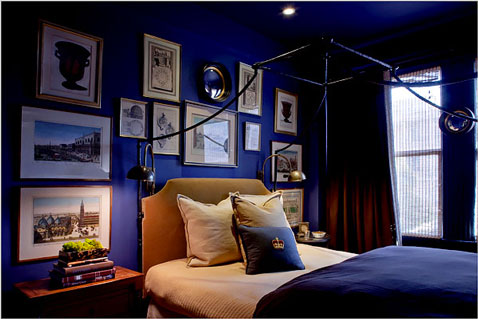 chambre couleur bleu monaco bleu cobalt. Black Bedroom Furniture Sets. Home Design Ideas