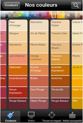 l 39 appli pour tester ses couleurs peinture dulux valentine. Black Bedroom Furniture Sets. Home Design Ideas