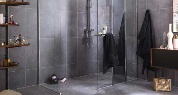 installer une colonne de douche dans un angle. Black Bedroom Furniture Sets. Home Design Ideas