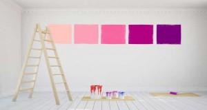Idées et conseils déco pour utiliser et marier la couleur rose en peinture cuisine, chambre et salon. Des idées pour associer rose et gris, rose fushia et blanc avec du taupe