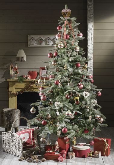 Decoration sapin noel esprit chalet montagne - Decoration sapin de noel ...