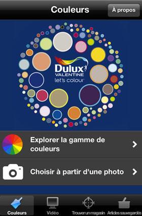 Une application pour harmoniser les couleurs de peinture à partir d'une photo. Commencez par choisir une teinte parmi la gamme de couleurs proposée