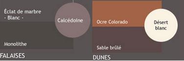 couleur peinture V33. palette teinte en contraste ambiance Audace