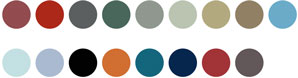 Nuancier peinture boiserie V33. 17 couleurs de peinture finition satin et brillant
