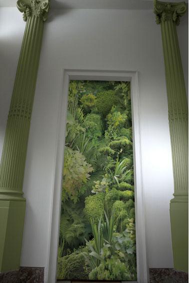 Papier peint imitation mur vegetal koziel - Papier peint vegetal ...