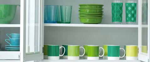 Vert émeraude, couleur tendance 2013 pour la vaisselle et les ustensiles de cuisine design