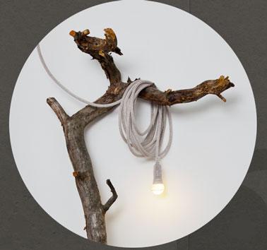 Lampe nomade  tricotée en coton, ampoule fournie