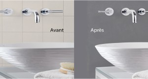 Relooker une salle de bain astuces id es d co for Peindre du carrelage douche