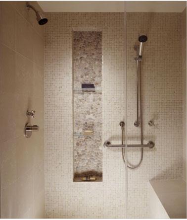 Rangement salle de bain en 26 id es anti casse t te - Pose carrelage mural douche italienne ...