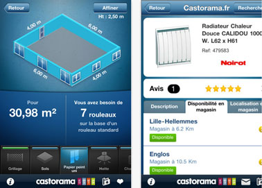 application castorama pour iphone et ipad. Black Bedroom Furniture Sets. Home Design Ideas