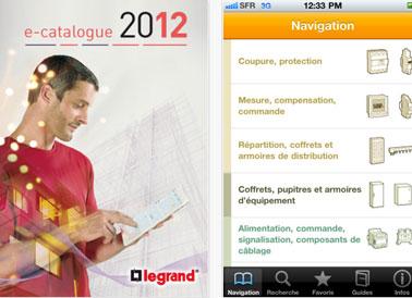 L'application Legrand pour Ipad et Iphone donne acces à tout le catalogue des produits pour l'équipement électrique de la maison