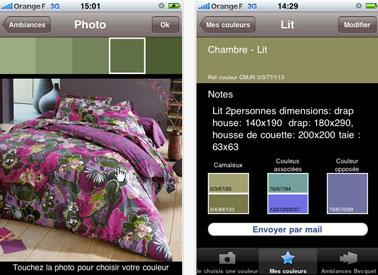 L'application de Becquet pour Iphone permet de choisir les couleurs de sa décoration intérieure à partir d'une photo personnelle