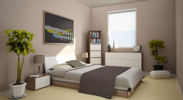 chambre adulte couleur taupe et lin style pur. Black Bedroom Furniture Sets. Home Design Ideas