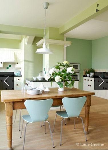 Couleur cuisine harmonie de peinture verte little greene - Deco cuisine vert ...