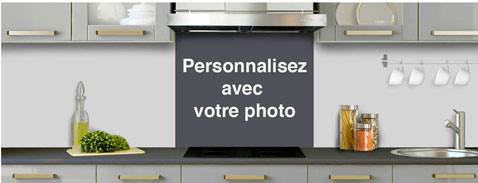 Credence en verre a personnaliser a partir photo for Credence cuisine en verre design