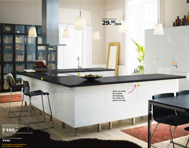 Cuisine Ikea Blanche Plan Travail Extra Large