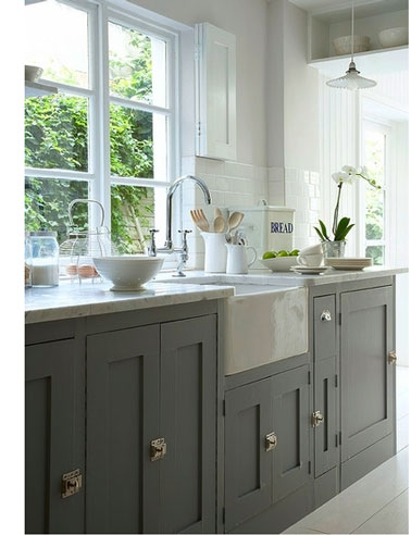 Conception de cuisine cuisine and d co on pinterest - Cuisine gris taupe ...