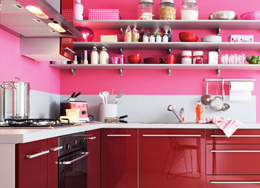 Cuisine 18 mod les coup de coeur d 39 ikea fly conforama for Modele cuisine rouge