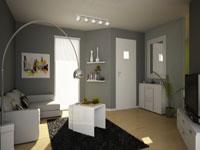 Idee d co avec couleur taupe dans salon chambre - Salon noir idees de decorations en couleurs sombres ...