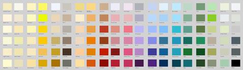 Nuancier 76 couleurs pour la peinture purifcatrice d'air Ecos Organic Paints