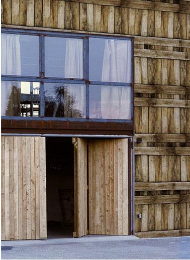 papier peint spécial exterieur maison imitation bois de la collection wall&déco. Resiste aux intempéries et aux UV