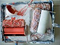 Rouleau a peindre motif sur murs tissu meuble for Peindre un motif sur un mur