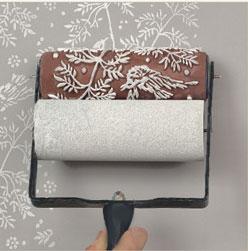 rouleau de peinture motifs pour mur bois et papier. Black Bedroom Furniture Sets. Home Design Ideas