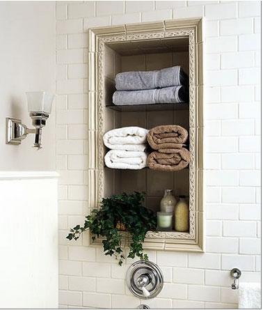 décoration niche salle de bain