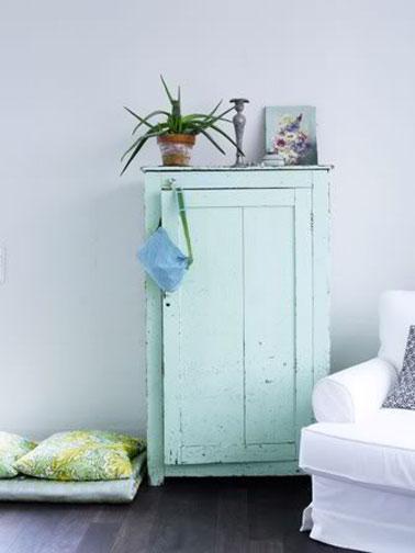 Peinture vert d 39 eau une couleur d co pour salon et cuisine for Couleur bleu vert