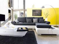 La couleur dans le salon, la solution anti morosité pour réveiller la déco. Peinture de couleur, canapé, tapis et rideaux, nos idées tendances pour mettre de la couleur dans votre salon avec les nouvelles collections.