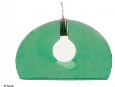 suspension globe kartell couleur vert émeraude. Dimensions : 52 cm de diamètre