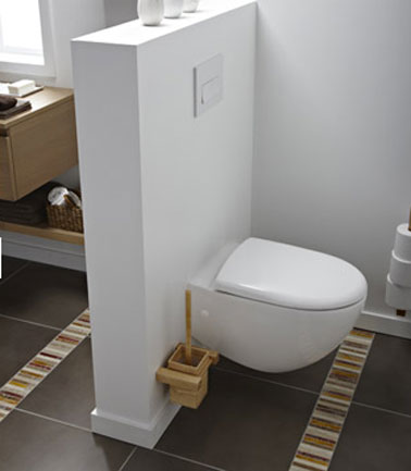 D co wc design avec cuvette wc suspendu d co cool for Wc bidet leroy merlin
