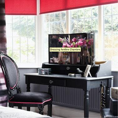 D co chambre noir et blanc et store rose for Deco noir et rose